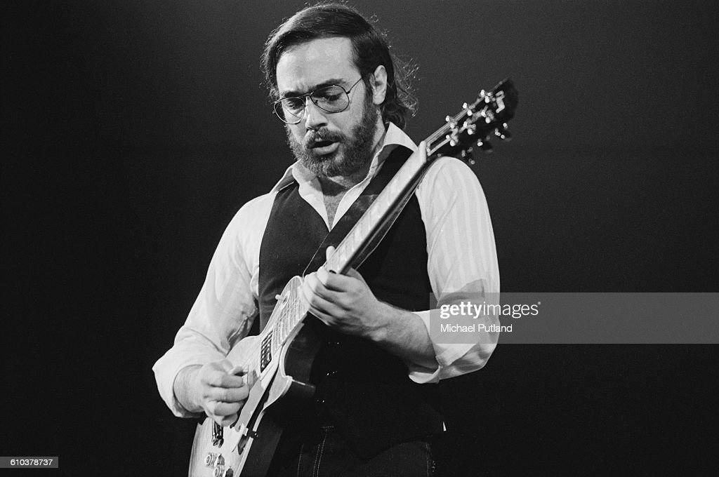 American jazz guitarist Al Di Meola performing on stage, USA, May 1978.