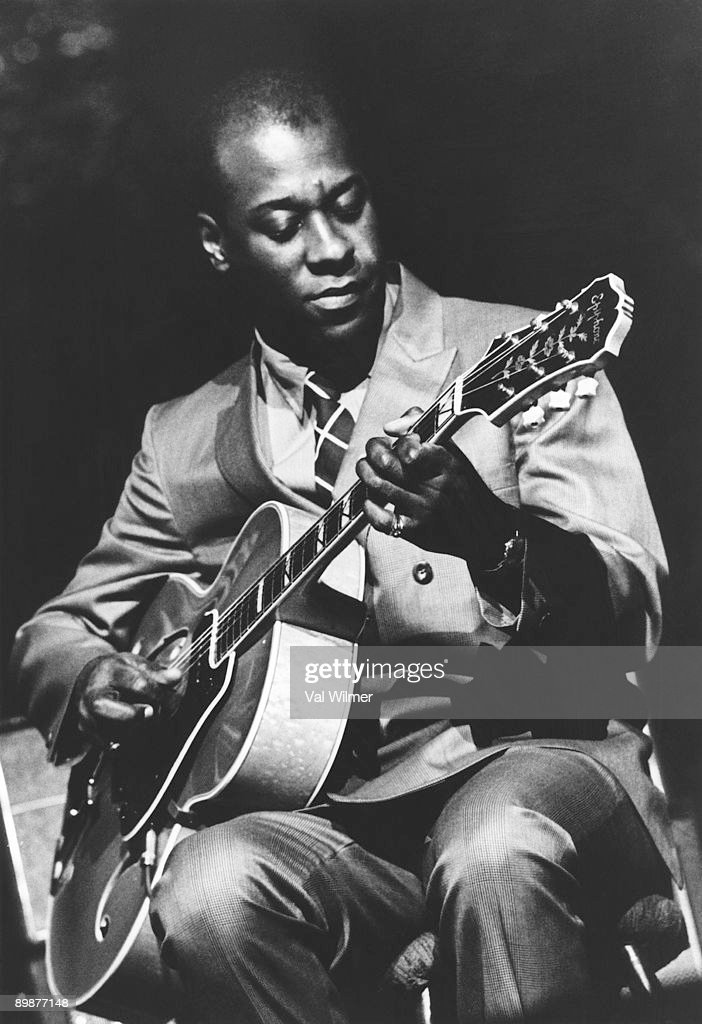 American jazz guitarist Grant Green (1935 - 1979) in concert in London, 1969.