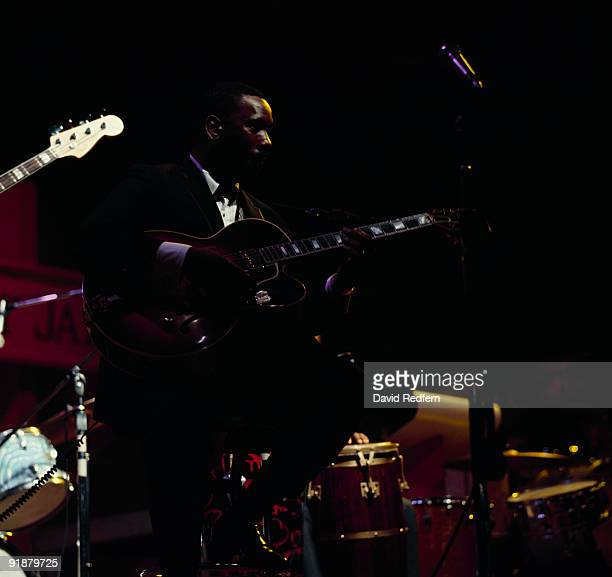 Guitarist Wes Montgomery performs on stage at the Newport Jazz Festival held in Newport Rhode Island on July 03 1967
