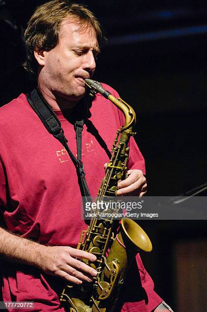 American Jazz musician and composer John Zorn on alto saxophone leads his Masada Quartet at the 'Vision for New Orleans Artists' Katrina Hurricane...