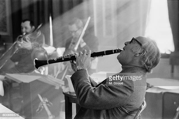 American jazz musician Benny Goodman in England for a tour of Europe 3rd February 1970