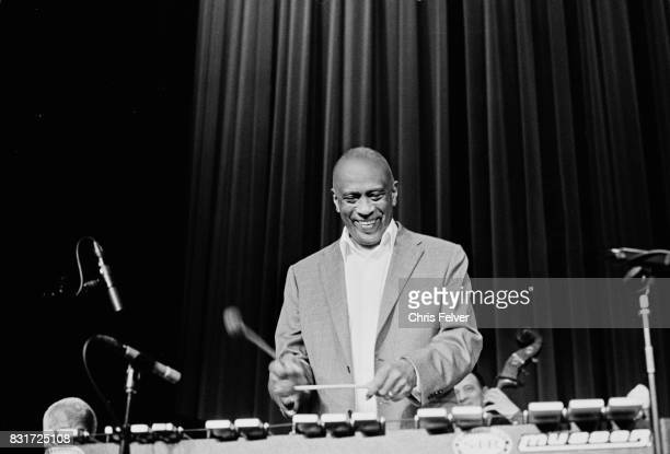 American Jazz musician Bobby Hutcherson plays vibraphone as he performs on stage Oakland California 1998
