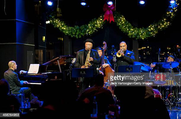 American Jazz musician Bobby Watson plays alto saxophone as he leads his band Horizon at Dizzy's Club Coca-Cola at Jazz at Lincoln Center in the Time...