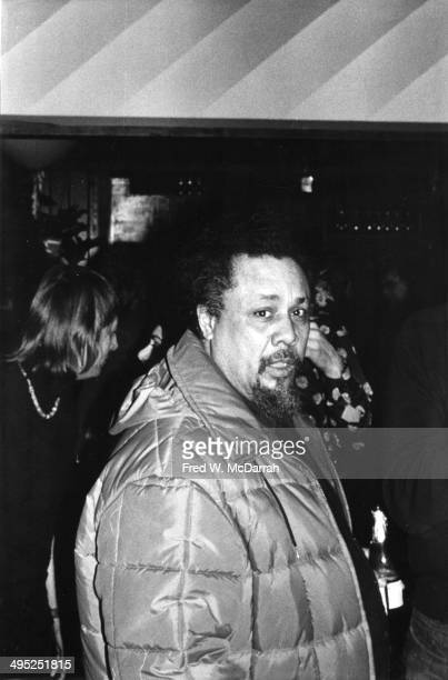 American jazz musician Charles Mingus attends a performance on the opening night of the Bottom Line music venue New York New York February 12 1974