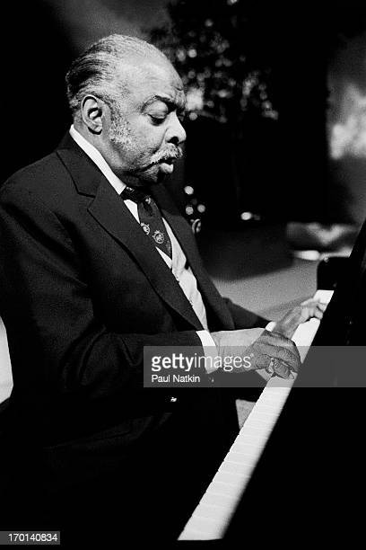 American jazz musician Count Basie as he performs during the recording of an episode of the PBS television series 'Soundstage' Chicago Illinois...
