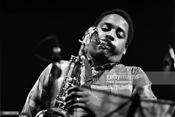 American jazz musician David Murray performs with tenor sax at the BIM Huis in Amsterdam, Netherlands on 10th June 1988.