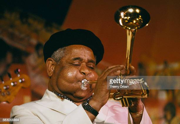 American jazz musician Dizzy Gillespie performing at the Meridien Hotel in Paris France