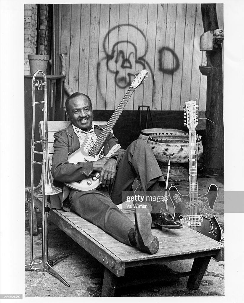 American jazz musician Eddie Durham (1906 - 1987), circa 1970.
