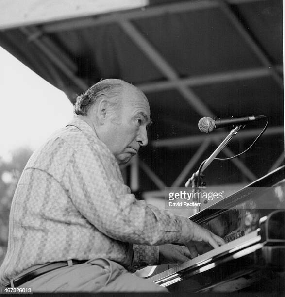 American jazz musician George Wein on stage circa 1985