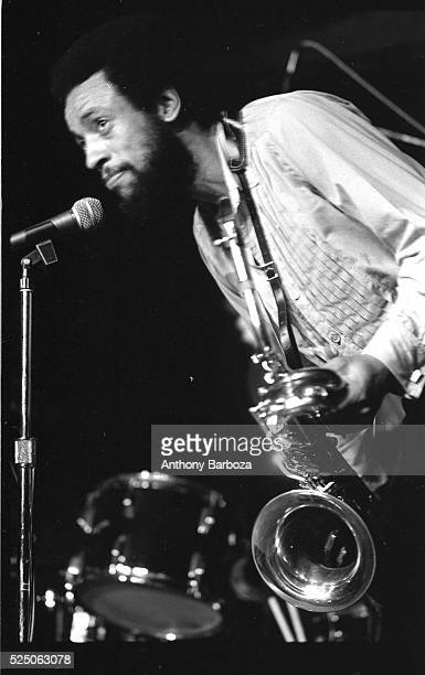 American Jazz musician Henry Threadgill plays saxophone as he performs onstage with his trio Air New York New York 1980s