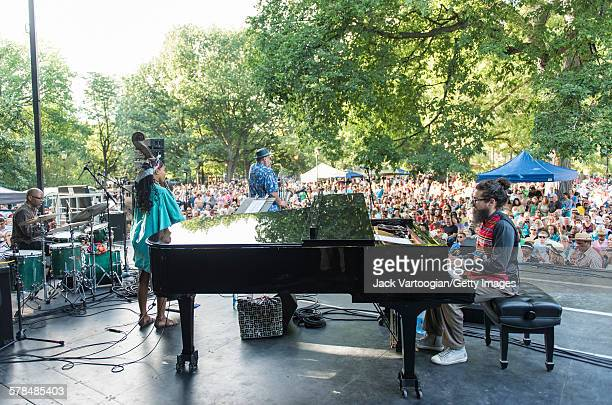 American Jazz musician Joe Lovano plays tenor saxophone as he leads his quartet on the third and final day of the 23rd Annual Charlie Parker Jazz...