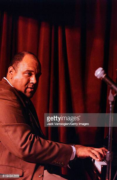American Jazz musician Kenny Drew Jr plays piano as he leads his trio at the Village Vanguard New York New York January 29 2002