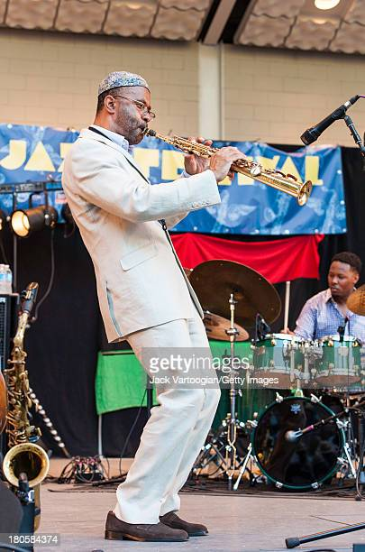 American Jazz musician Kenny Garrett leads his Quintet from the soprano saxophone with McClenty Hunter on drums at the 21st Annual Charlie Parker...