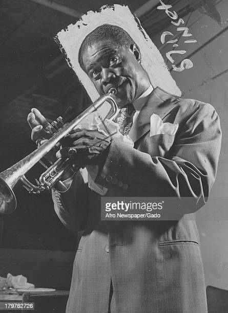 American jazz musician Louis Armstrong , New York, New York, August 18, 1951.