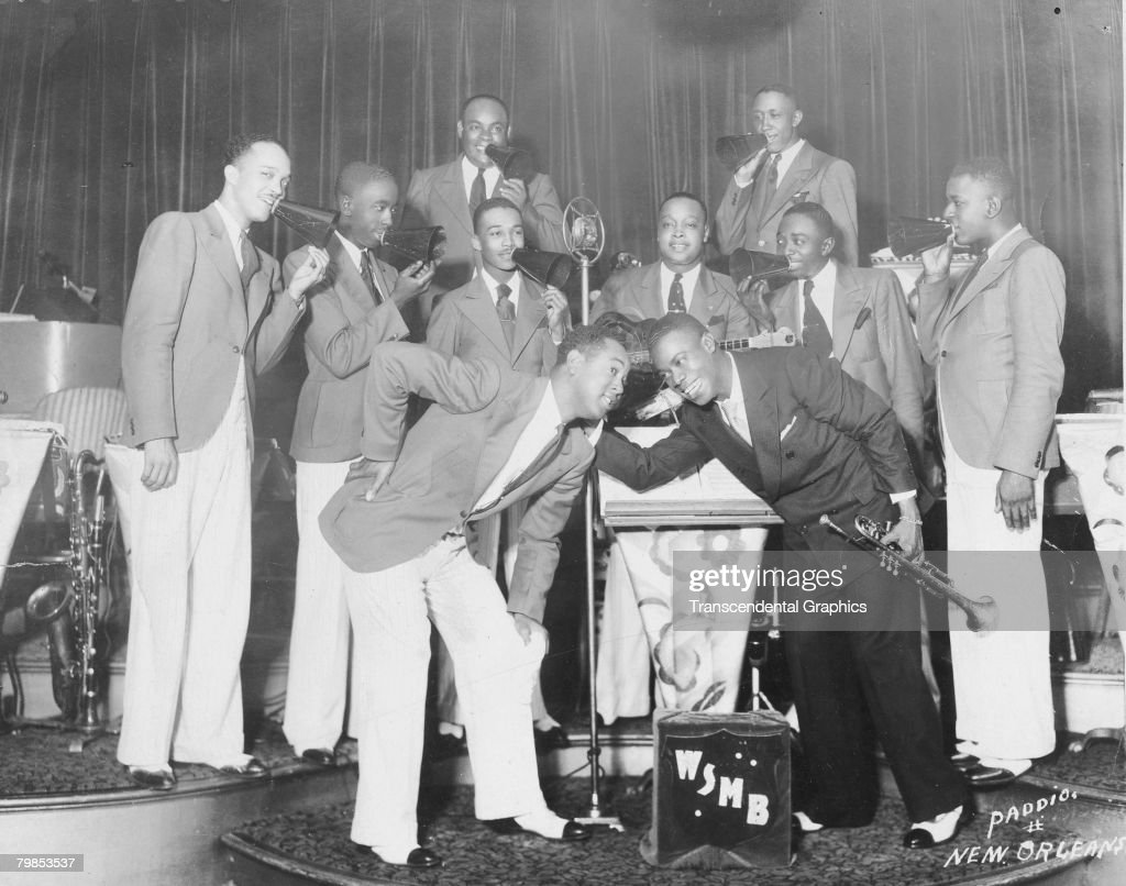 Louis Armstrong On WMSB Radio : ニュース写真