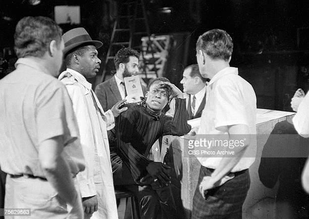 American jazz musician Miles Davis during rehersals for an episode of 'Robert Herridge Theater' entitled 'The Sound of Miles Davis' New York New York...