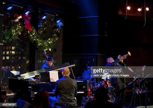 American Jazz musician Terell Stafford plays trumpet with Bobby Watson's Horizon at Dizzy's Club Coca-Cola at Jazz at Lincoln Center in the Time...