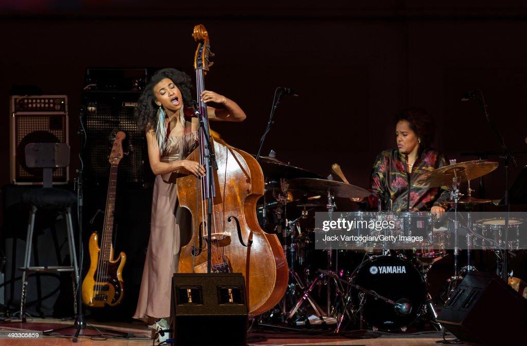 American Jazz musicians Esperanza Spalding, on upright