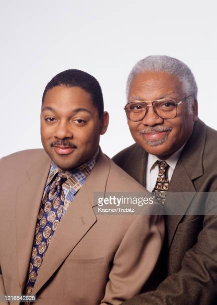 American jazz musicians Wynton Marsalis and his father Ellis Marsalis in New York City in 1995