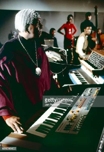 American jazz orchestra leader Sun Ra performing at Berliner Jazz Tage Germany 1970