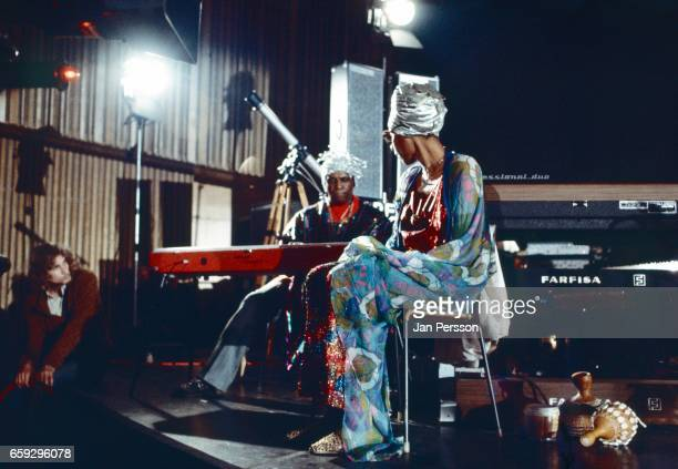 American jazz orchestra leader Sun Ra performing together with singer June Tyson at Berliner Jazz Tage Germany 1970