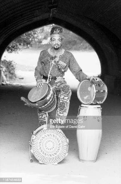American jazz percussionist and drummer Don Moye poses for a portrait on June 27 1980 in New York City New York Don Moye is a principal member of the...