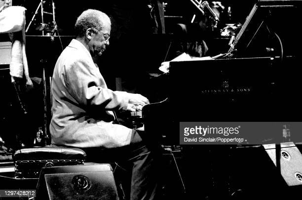 American jazz pianist and composer Andrew Hill performs live on stage at Queen Elizabeth Hall in London on 21st May 2003.