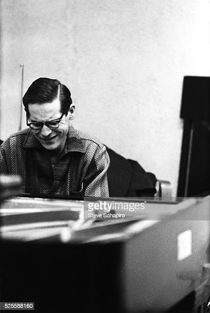 American jazz pianist and composer Bill Evans at the piano during rehearsals at Reeves Sound Studio in New York City, New York, circa 1960.