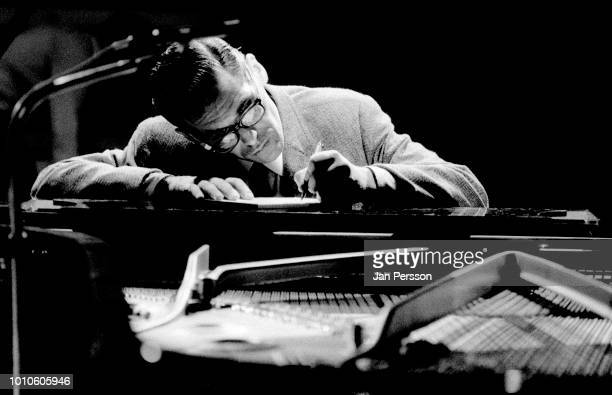 American jazz pianist and composer Bill Evans in television special Copenhagen Denmark June 1970