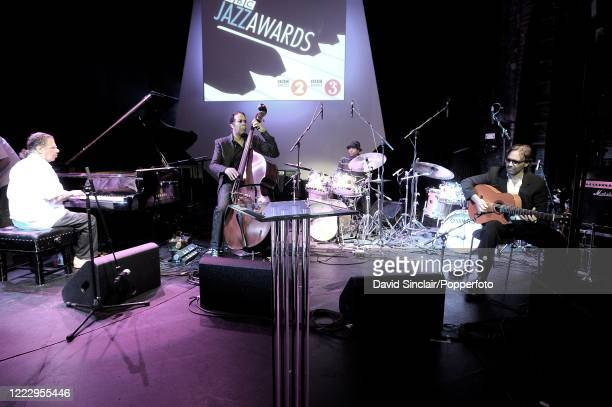 American jazz pianist and composer Chick Corea performs live on stage with Return To Forever at the BBC Jazz Awards in London on 21st July 2008....