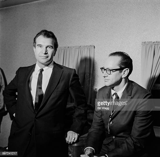 American jazz pianist and composer Dave Brubeck and jazz saxophonist Paul Desmond of the Dave Brubeck Quartet, circa 1960.