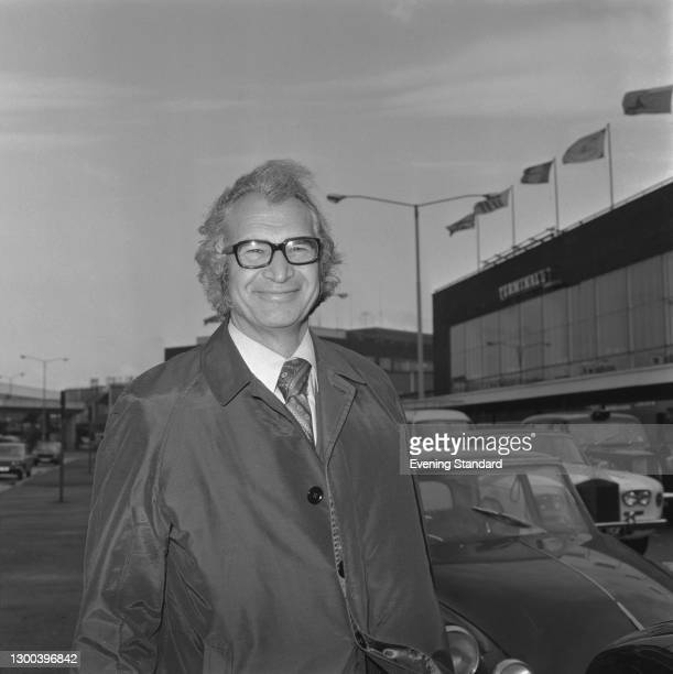 American jazz pianist and composer Dave Brubeck at Heathrow Airport in London, UK, 9th November 1972.