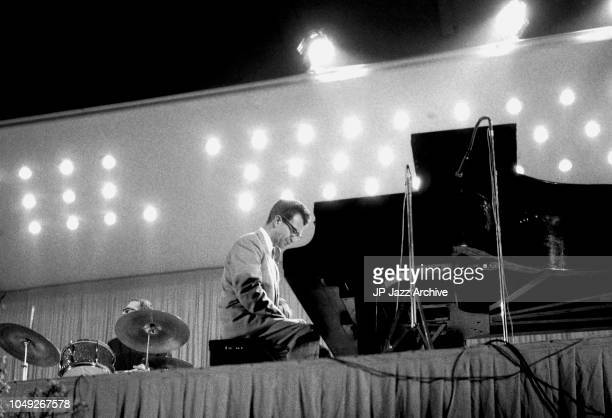 American jazz pianist and composer Dave Brubeck performing in Copenhagen, Denmark, 1959.