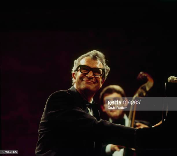American jazz pianist and composer Dave Brubeck performs live on stage with Dave Brubeck Quartet bassist Jack Six, circa 1970.