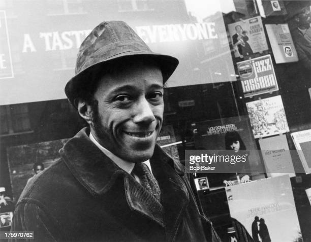 American jazz pianist and composer Horace Silver outside Dobell's jazz record shop Charing Cross Road London circa 1969