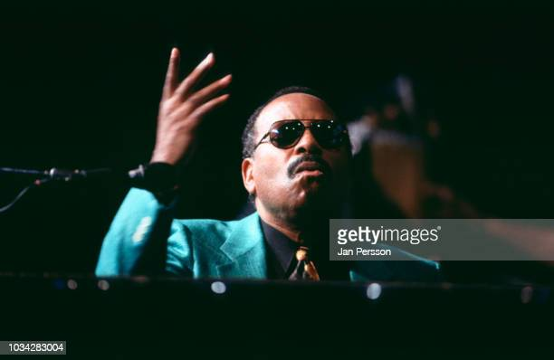 American jazz pianist and composer McCoy Tyner at North Sea Jazz Festival, Den Haag The Netherlands July 1992.
