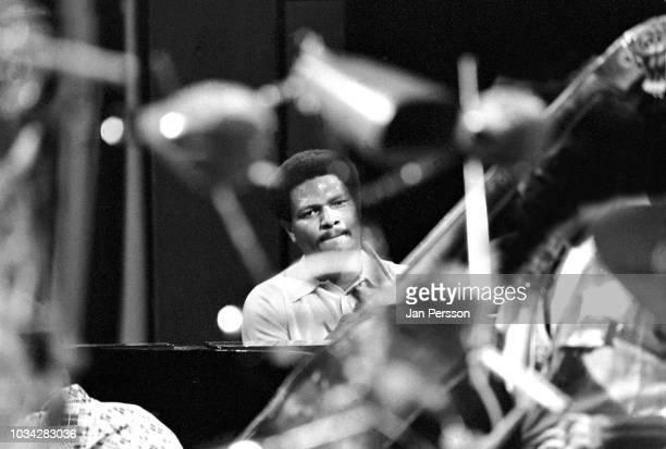 American jazz pianist and composer McCoy Tyner performing in Copenhagen, Denmark, October 1974.