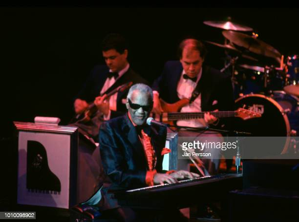 American jazz pianist and singer Ray Charles performing in Copenhagen Denmark December 1993