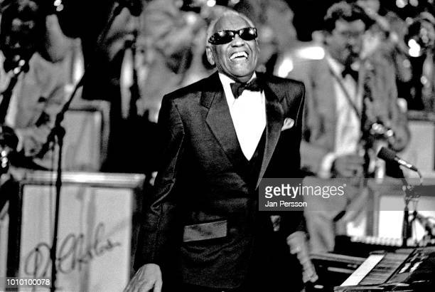 American jazz pianist and singer Ray Charles performing in Copenhagen Denmark July 1996
