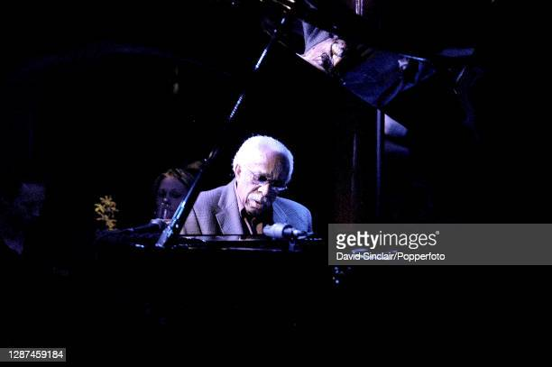 American jazz pianist Barry Harris performs live on stage at Pizza Express Jazz Club in Soho London on 4th June 2003