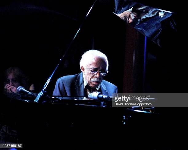 American jazz pianist Barry Harris performs live on stage at Pizza Express Jazz Club in Soho London on 6th June 2003