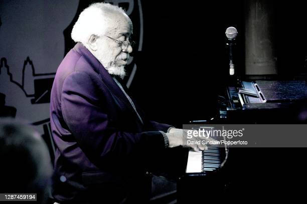 American jazz pianist Barry Harris performs live on stage at Pizza Express Jazz Club in Soho London on 22nd May 2008