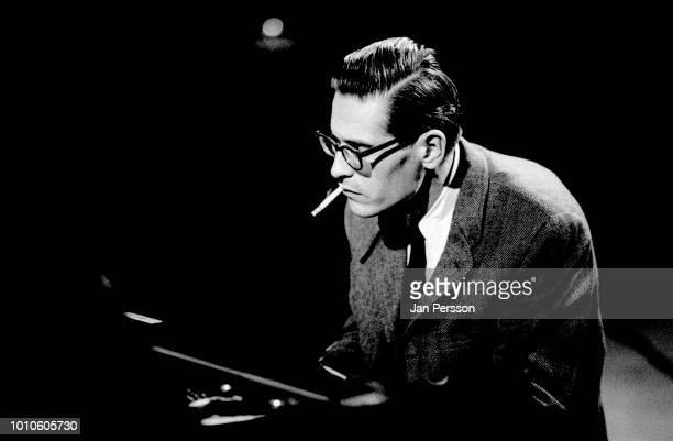 American jazz pianist Bill Evans performing in TV special Copenhagen Denmark 1964