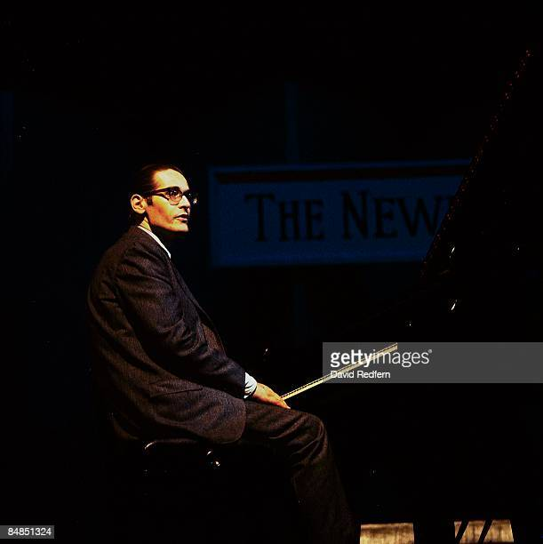 American jazz pianist Bill Evans performs live on stage with the Bill Evans Trio at the Newport Jazz Festival in Newport, Rhode Island on 2nd July...
