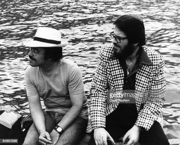Photo of Bill EVANS and Eddie GOMEZ and Bill EVANS posed