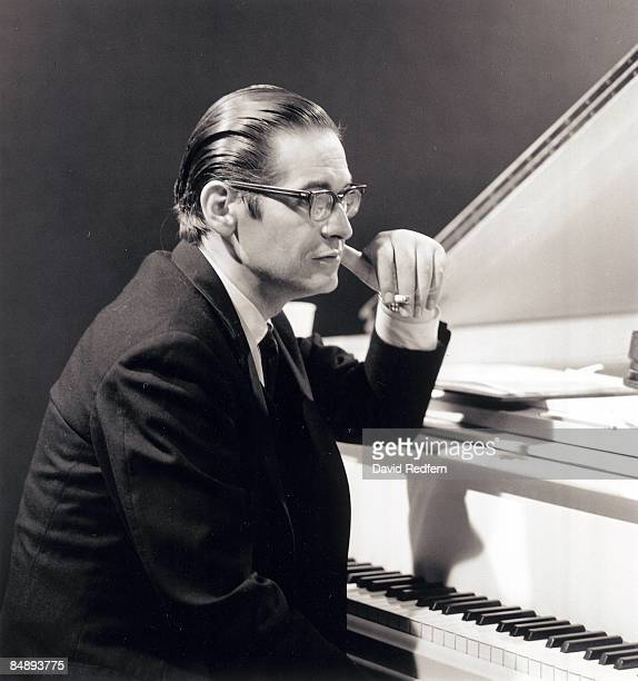 American jazz pianist Bill Evans seated at the piano during a performance filmed for the BBC Television music series 'Jazz 625' at BBC Television...