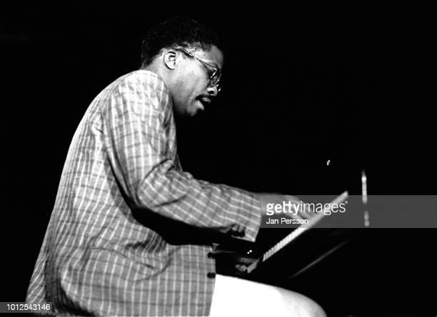 American jazz pianist composer and bandleader Herbie Hancock in Copenhagen Denmark 1986