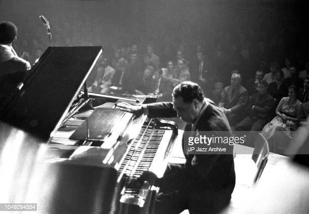 American jazz pianist composer and orchestra leader Duke Ellington in concert, Copenhagen, Denmark, October 1959.