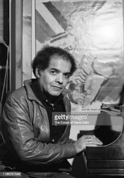 American jazz pianist composer arranger and theorist George Russell poses for a portrait in November 1983 in New York City New York