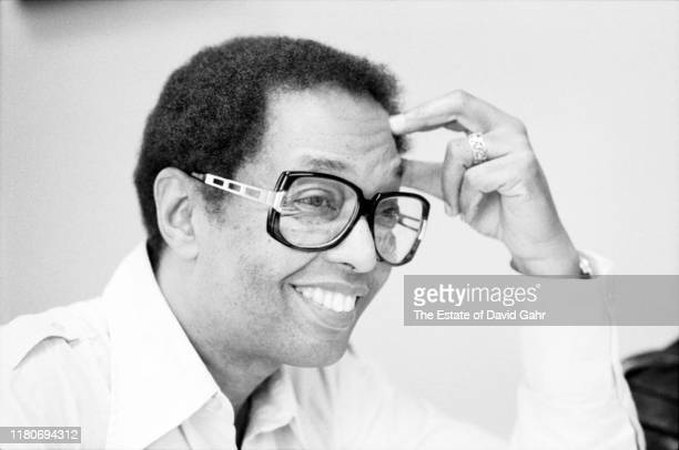American jazz pianist composer broadcaster and educator Billy Taylor poses for a portrait in the Harlem NYC office of Jazzmobile the organization...